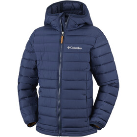 Columbia Powder Lite Hooded Jacket Boys Collegiate Navy